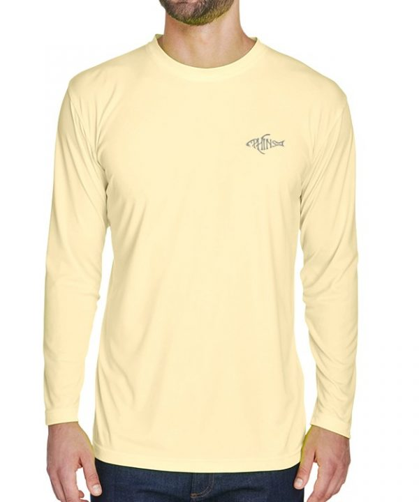 An adult model wearing a yellow Dri-FIT shirt. It is the front of a Yellow Dri-FIT shirt